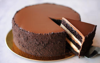 Proof Bakery's chocolate espresso layer cake