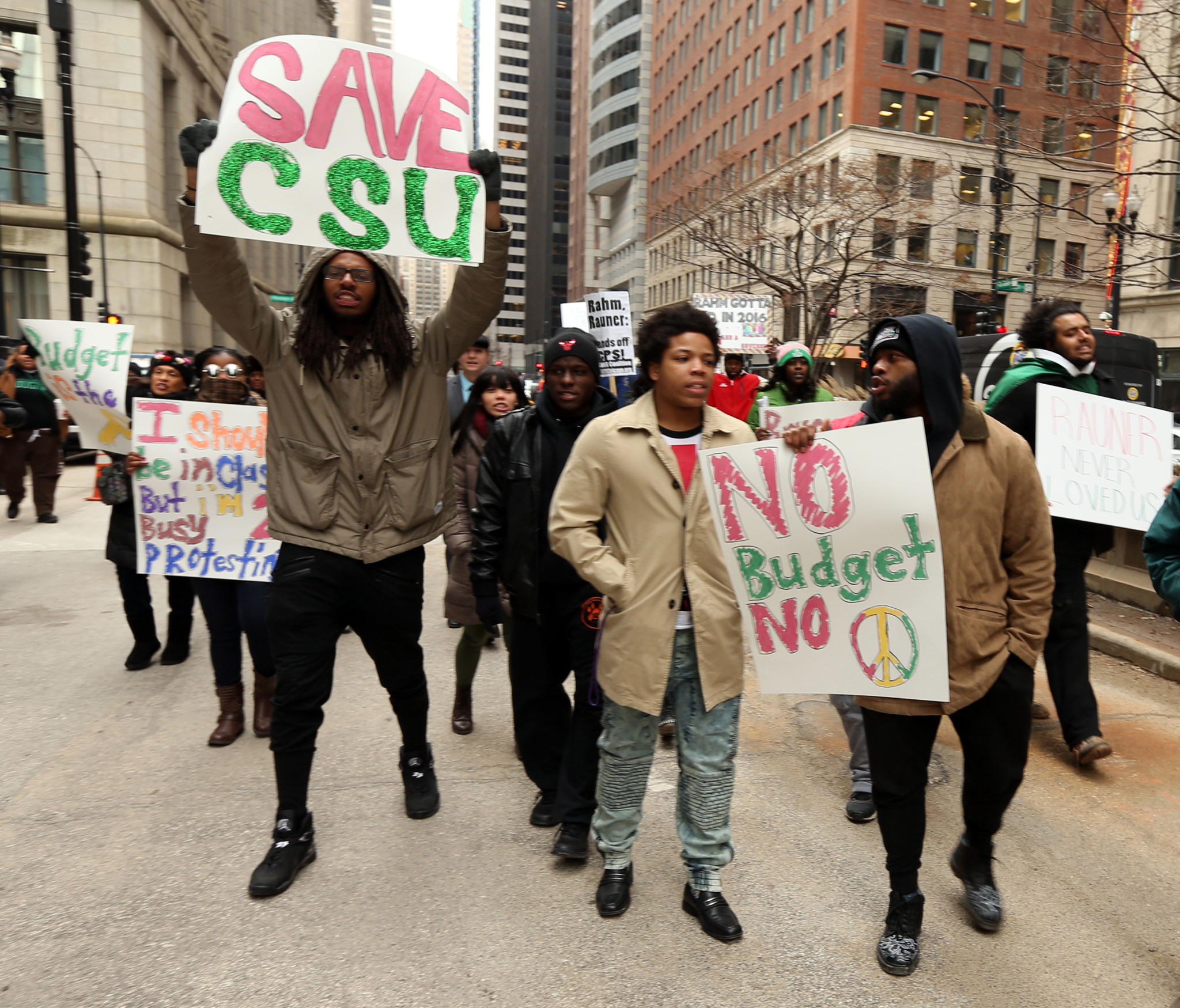 Colleges In Ct >> Chicago State students, faculty protest Springfield budget standoff - Chicago Tribune