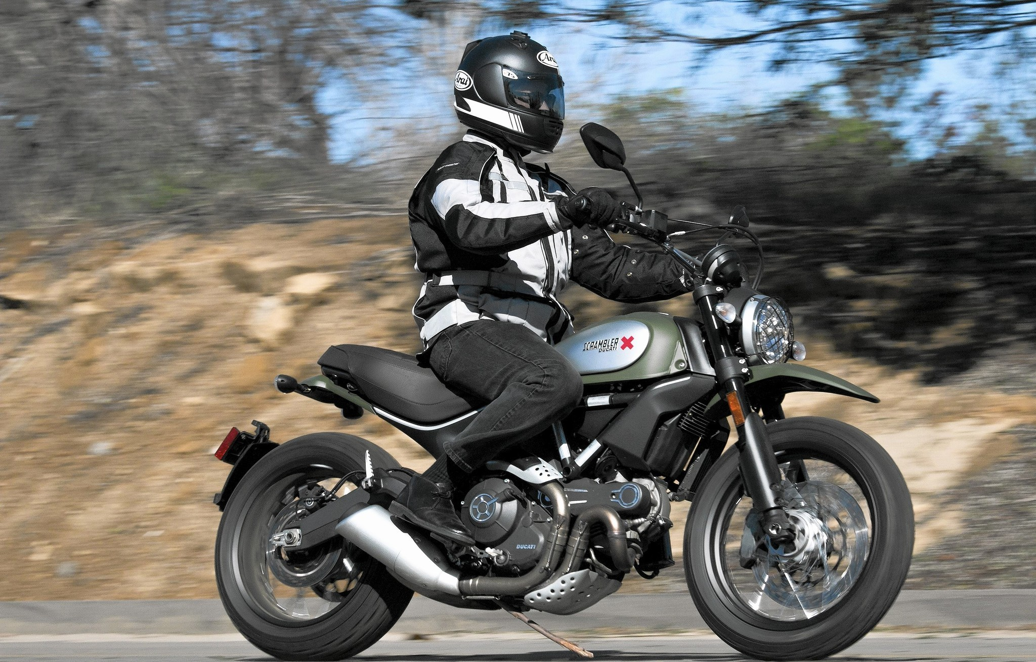 ducati scrambler urban enduro excels on pavement, not so much on