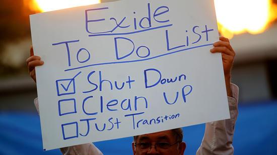 Exide plant protest