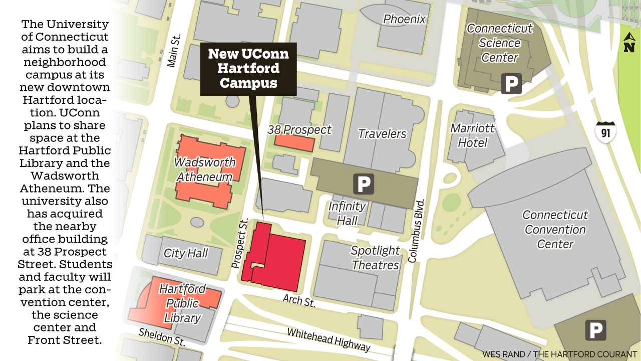 Uconn S Hartford Campus May Extend To City S Public Library
