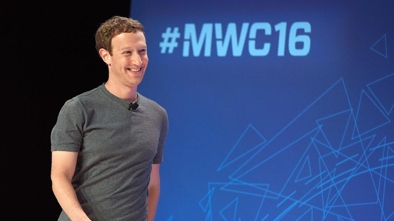 Facebook CEO Mark Zuckerberg speaks in Barcelona, Spain, on Monday.
