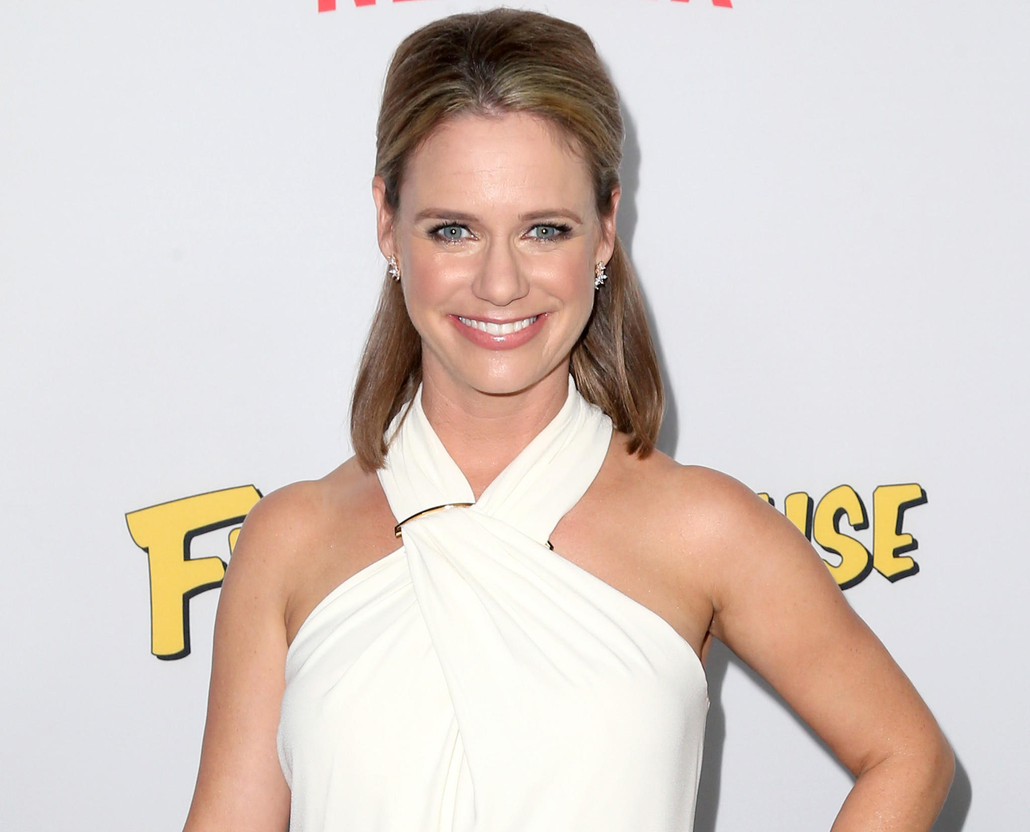 "Andrea Barber at the premiere of ""Fuller House"" on Feb. 16, 2016 in Los Angeles."