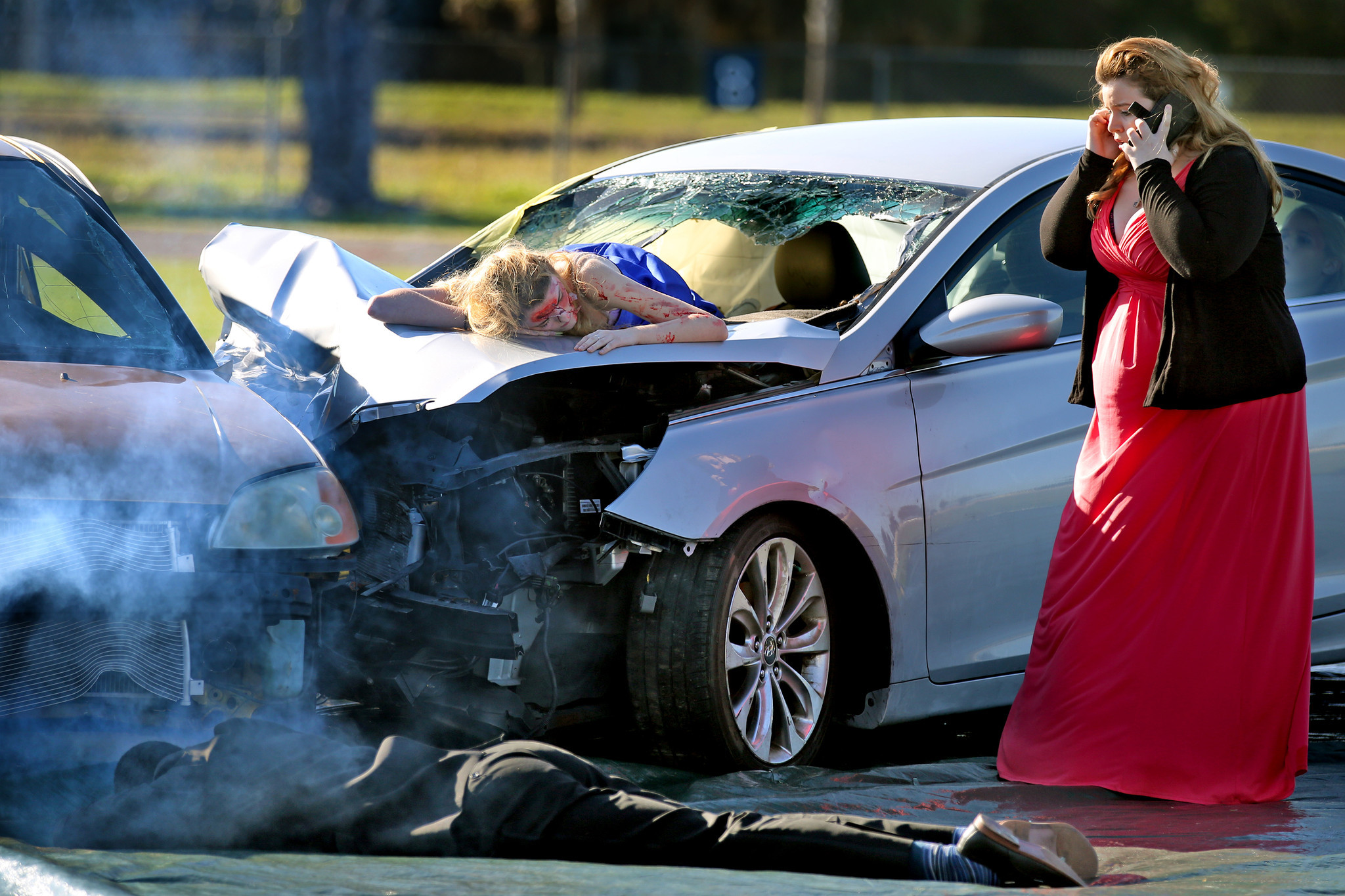 Driving School For Teens >> Coral Springs teens get a taste of how dangerous driving can ruin prom night - Sun Sentinel