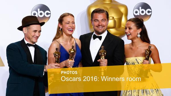 Oscars 2016: Winners' room