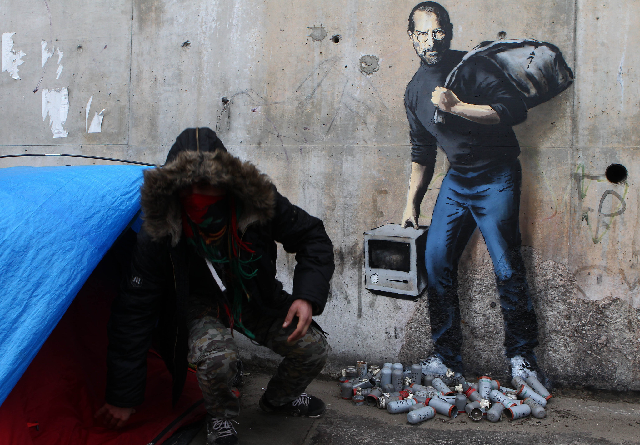 Wall Mural Stencils Banksy S Identity May Have Been Revealed Chicago Tribune