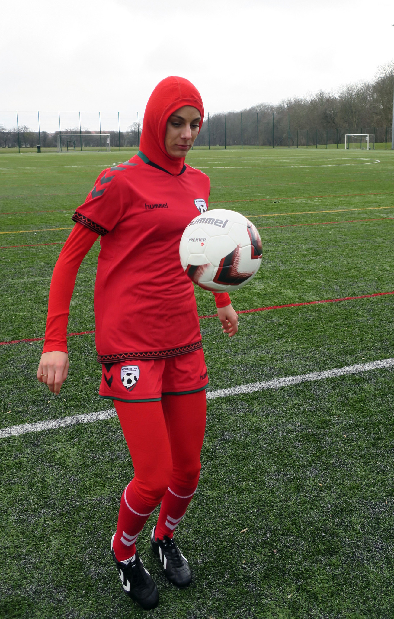 Afghani women s team gets jersey with integrated hijab - Chicago Tribune a148de920