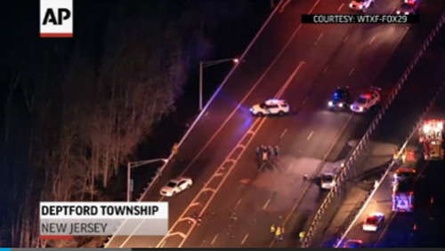 Raw: NJ Trooper Fatally Struck at Accident Scene - The