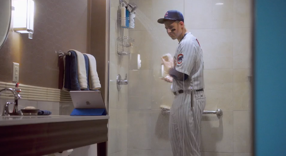 Anthony Rizzo Cant Get Enough Baseball In MLB At Bat App Commercial