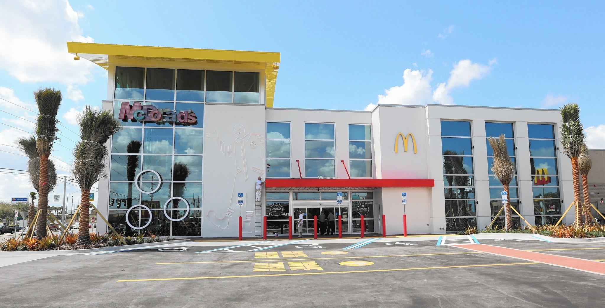 Rebuilt I-Drive McDonald\'s features floor of toys, games, pasta and ...