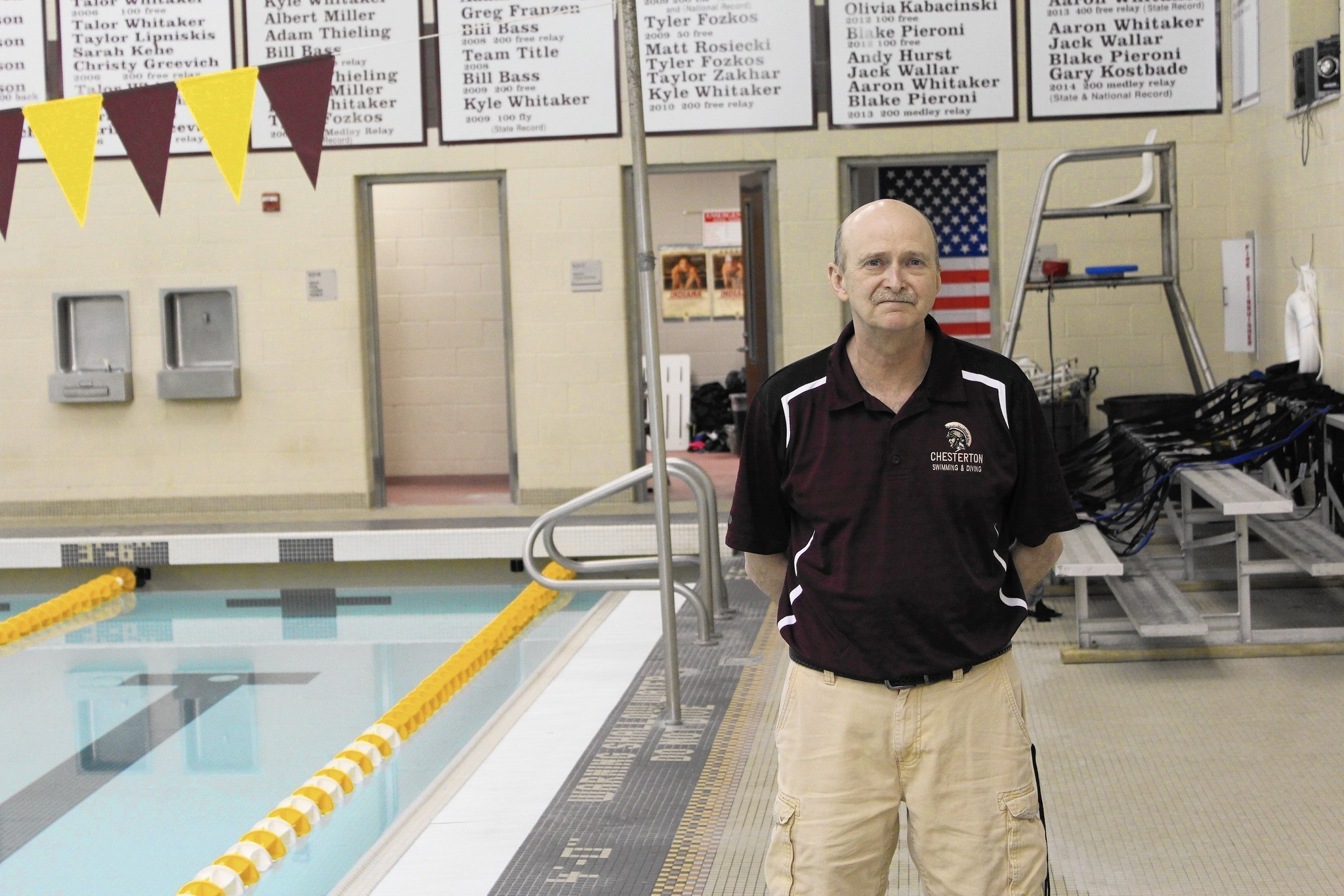 Chesterton's Kevin Kinel the Post-Tribune Girls Swimming Coach of ... - Chicago Tribune