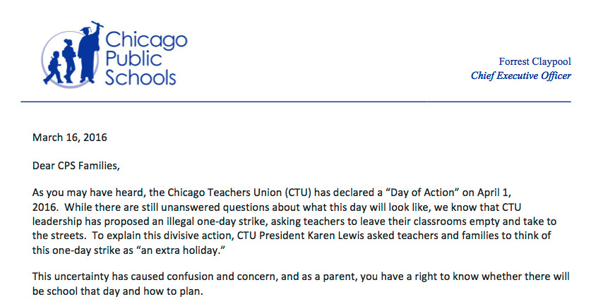 read  letter from cps to parents