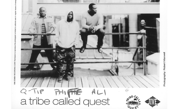 A 1998 press photo of A Tribe Called Quest.
