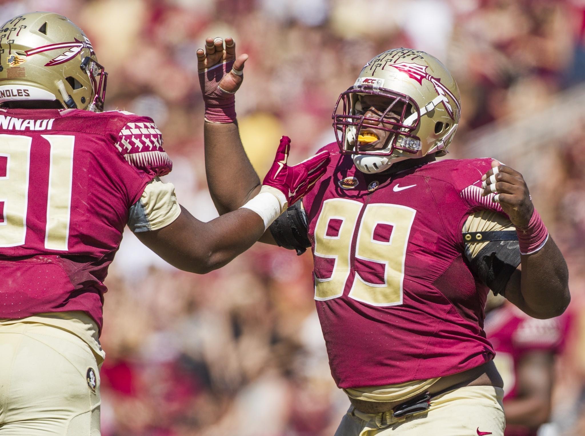 pretty nice 8441a 375c7 Florida State defensive tackle Derrick Nnadi becoming a more ...