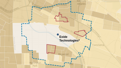High lead levels found in Exide area