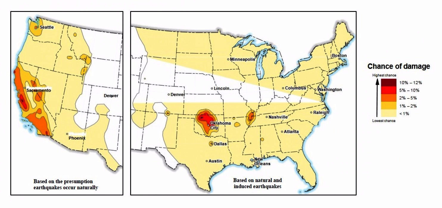 7 Million Americans At Risk Of Man Made Earthquakes Usgs Says