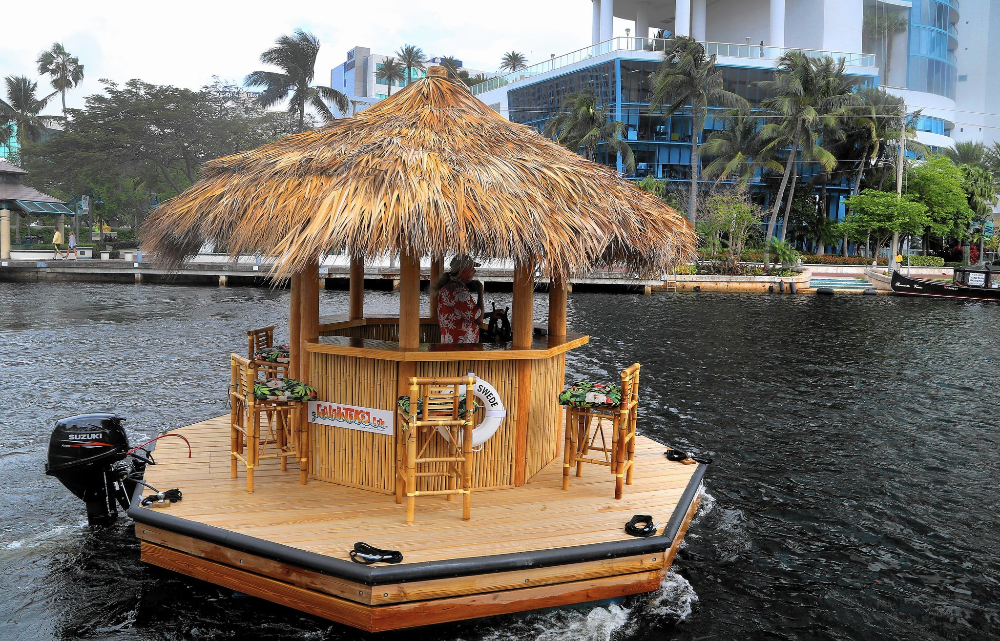 Floating Tiki Hut Sun Sentinel