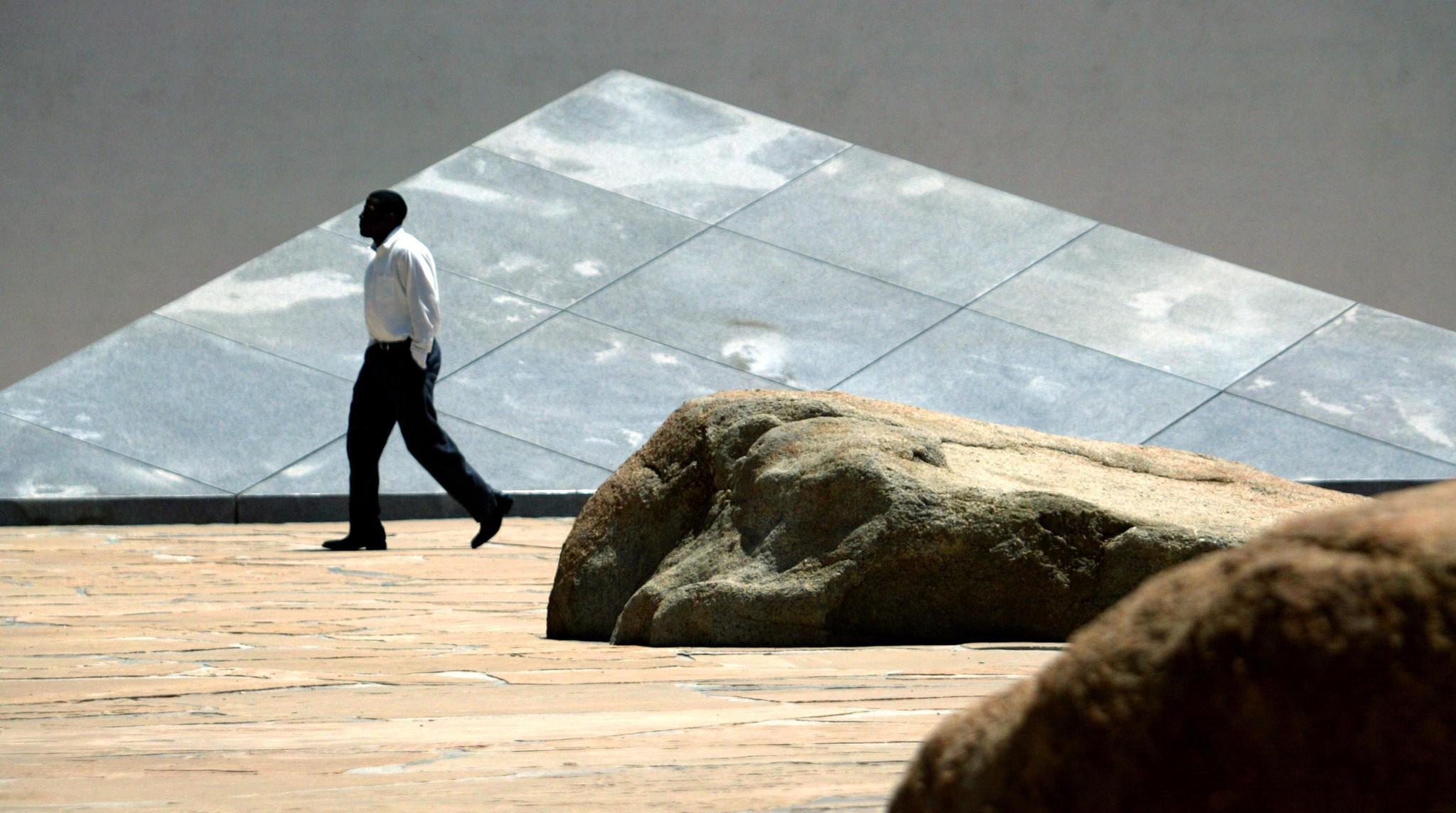 Isamu Noguchi's famous stone sculpture garden in Costa Mesa.