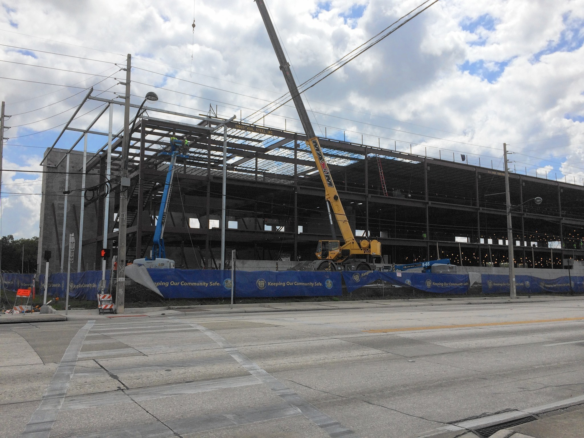 New Orlando Police Hq Takes Shape Leading Other West Side