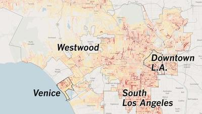 Los Angeles dirty streets map