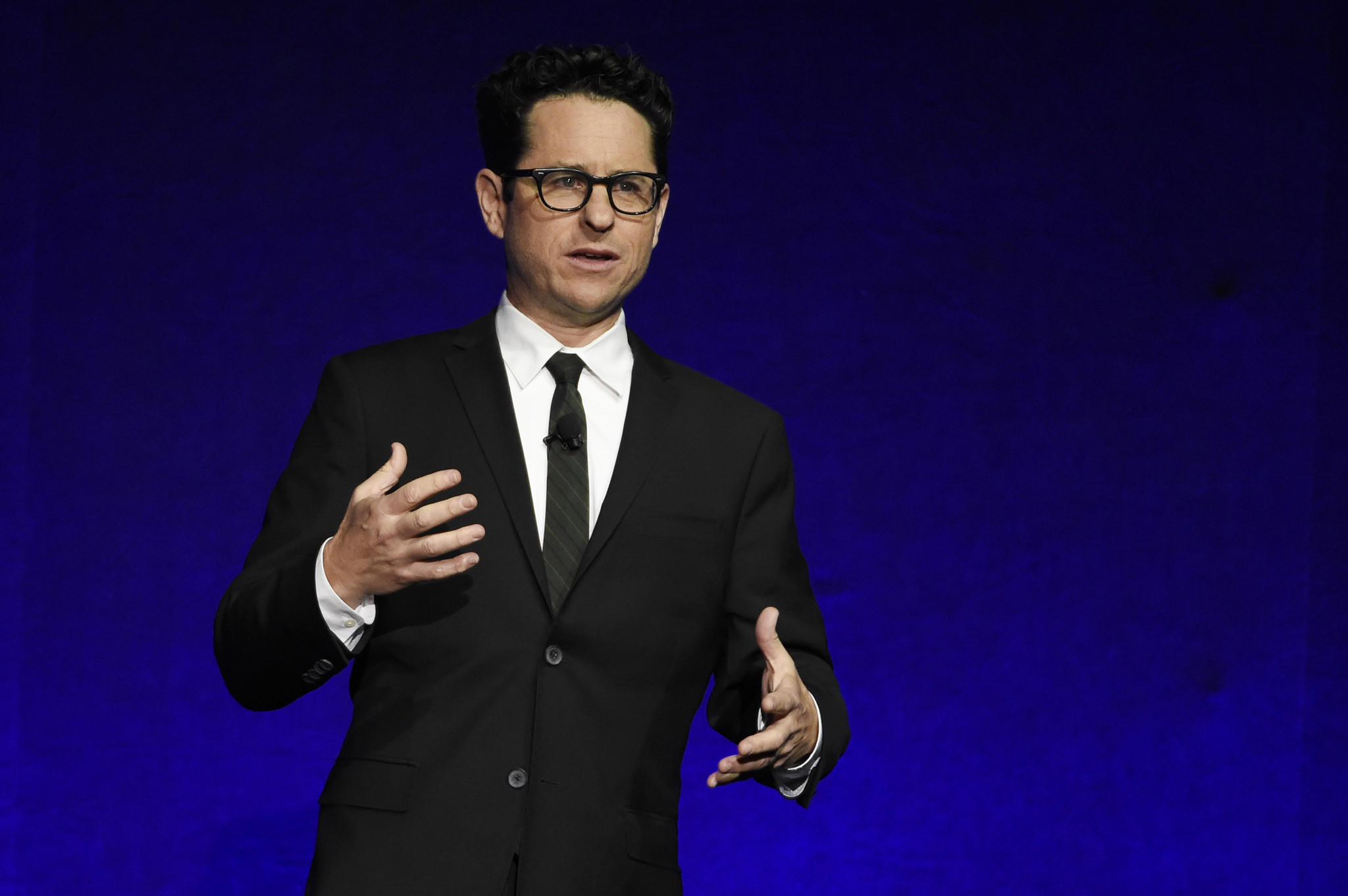 Filmmaker J.J. Abrams accepts the Showman of the Year Award during the Paramount Pictures presentation at CinemaCon 2016. (Chris Pizzello / Invision)