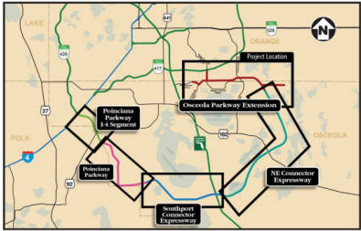 Toll Roads Map Florida.Central Florida Expressway Authority To Take Over Construction Of