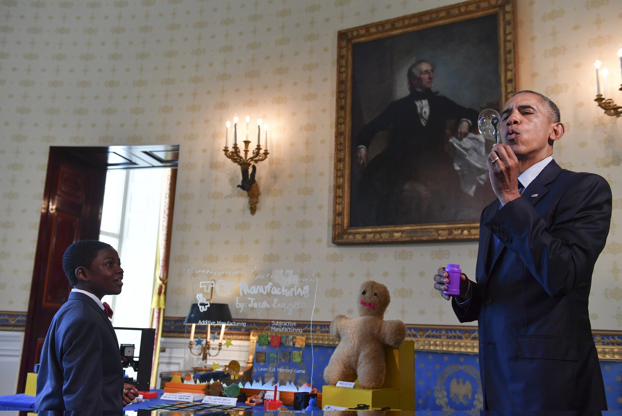 West Baltimore boy, 9, wows Obama at White House science fair ... on trump white house design, obama library design, obama campaign design,