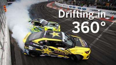 Drifting a car in 360 degrees