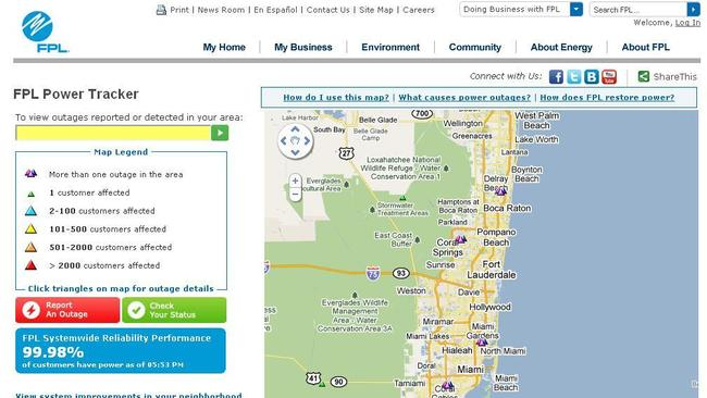 Florida Power And Light Outage Map West Palm Beach Iron Blog