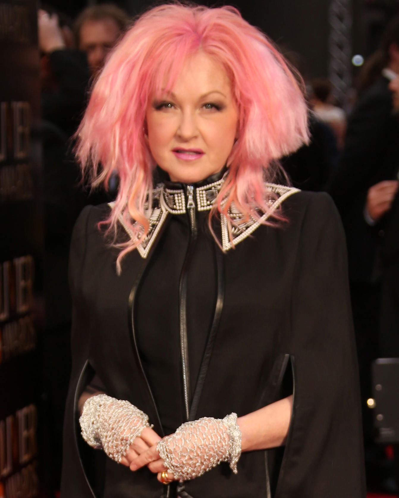 Cyndi Lauper at the Olivier Awards in London on April 3, 2016.