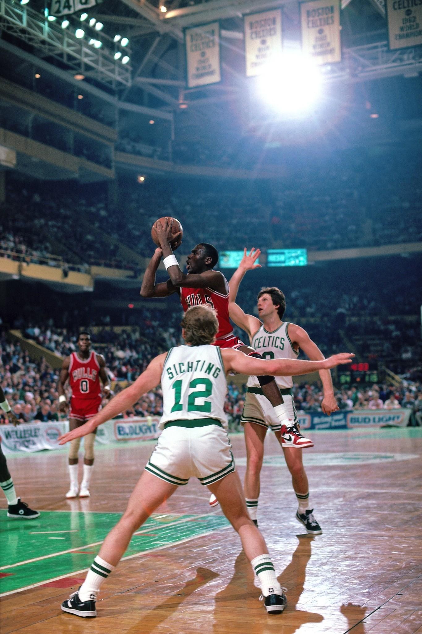 new product 7636a 466de April 20, 1986  Michael Jordan s playoff-record 63 points not enough vs.  Celtics - Chicago Tribune