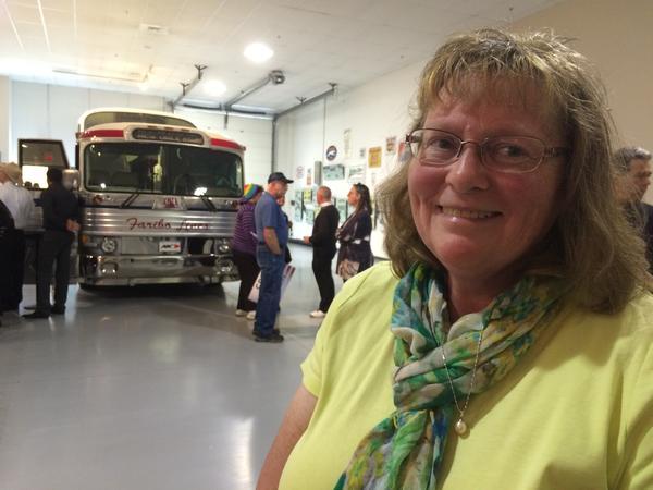Brenda Oren at a Ted Cruz event in Hershey, Pa.