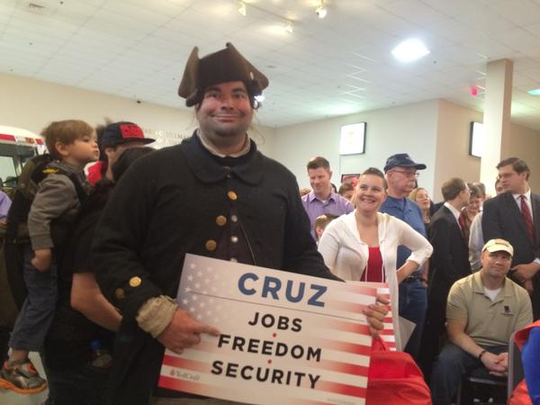 John Rentschler at a Ted Cruz rally in Hershey, Pa.