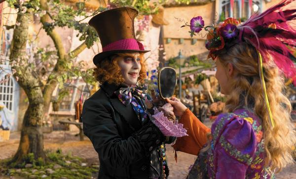 Alice (Mia Wasikowska) returns to the whimsical world of Underland and travels back in time to save the Mad Hatter (Johnny Depp) in Disney's