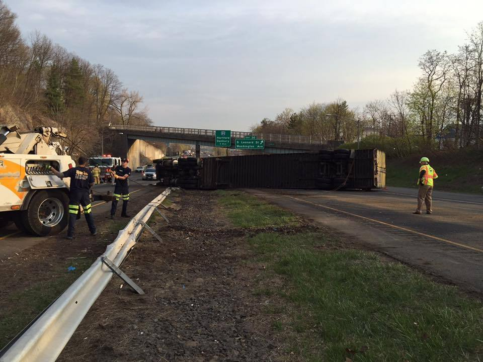 f79cf0926c9 Two Tractor Trailer Rollovers On Route 8 - Hartford Courant