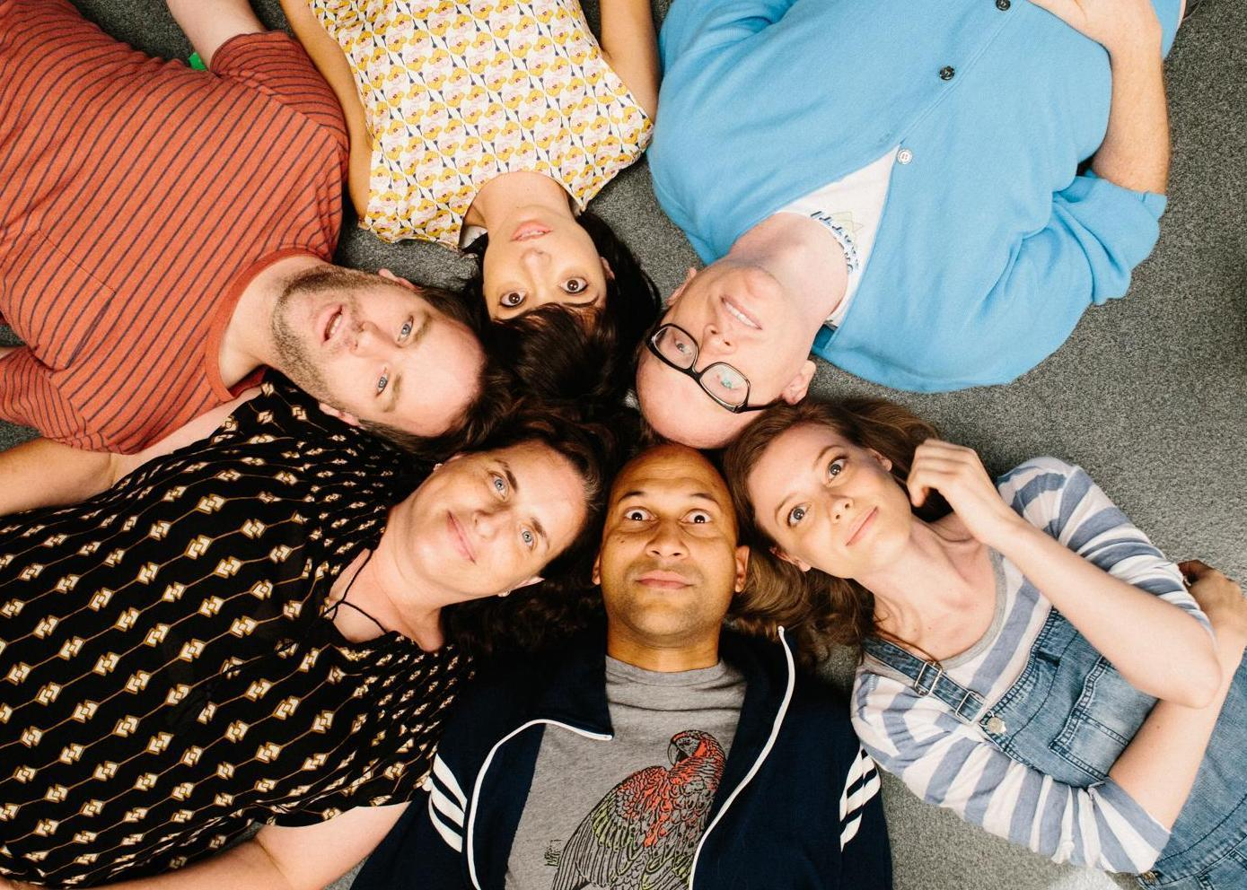 Clockwise, from top: Tami Sagher, Keegan-Michael Key, Gillian Jacobs, Chris Gethard, Kate Micucci and Mike Birbiglia in 'Don't Think Twice.'