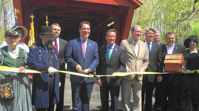 Baltimore, Harford counties celebrate completion of Jericho Covered Bridge restoration