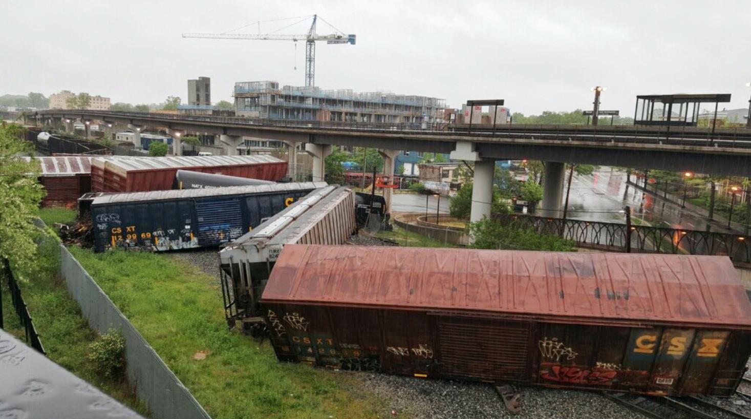 Freight train derails in Washington, D.C., leaks hazardous ...
