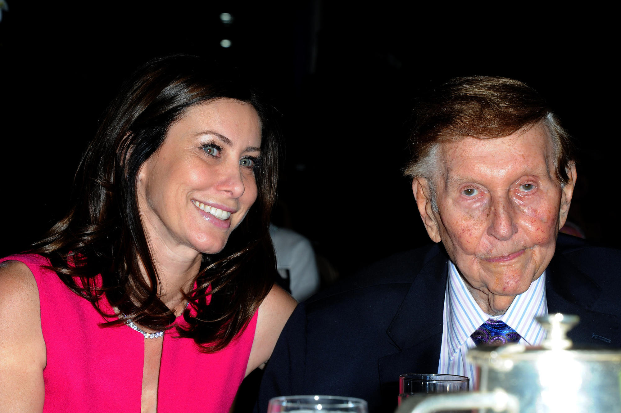 Sydney Holland and Sumner Redstone in 2012.