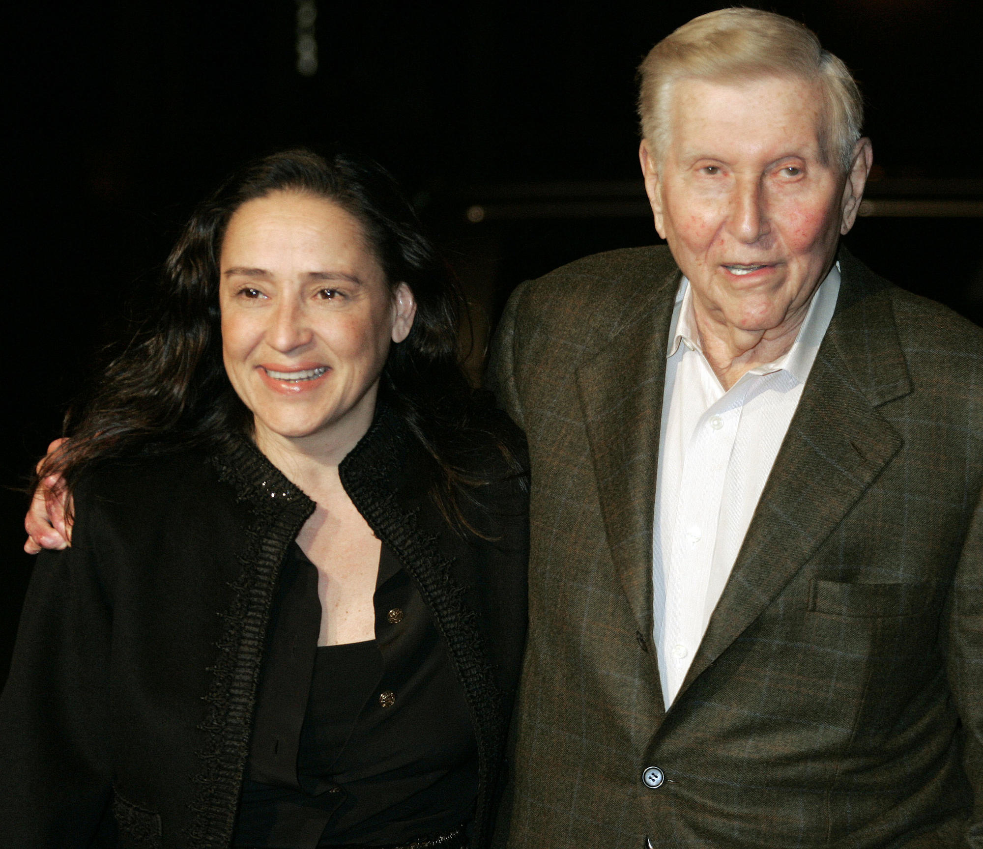 Sumner Redstone and then-wife Paula Fortunato in 2007.