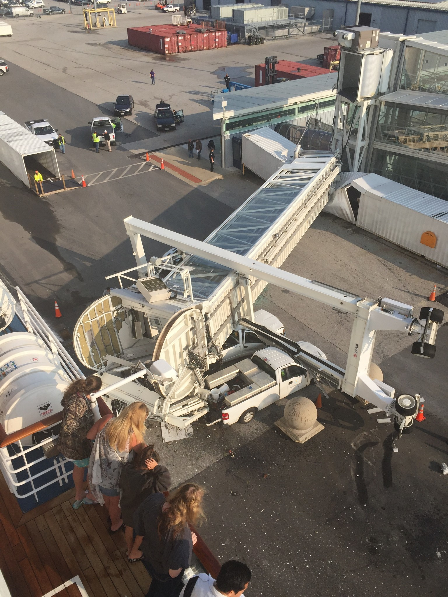 Carnival Cruise Ship Crashes Into Gangway At Baltimore
