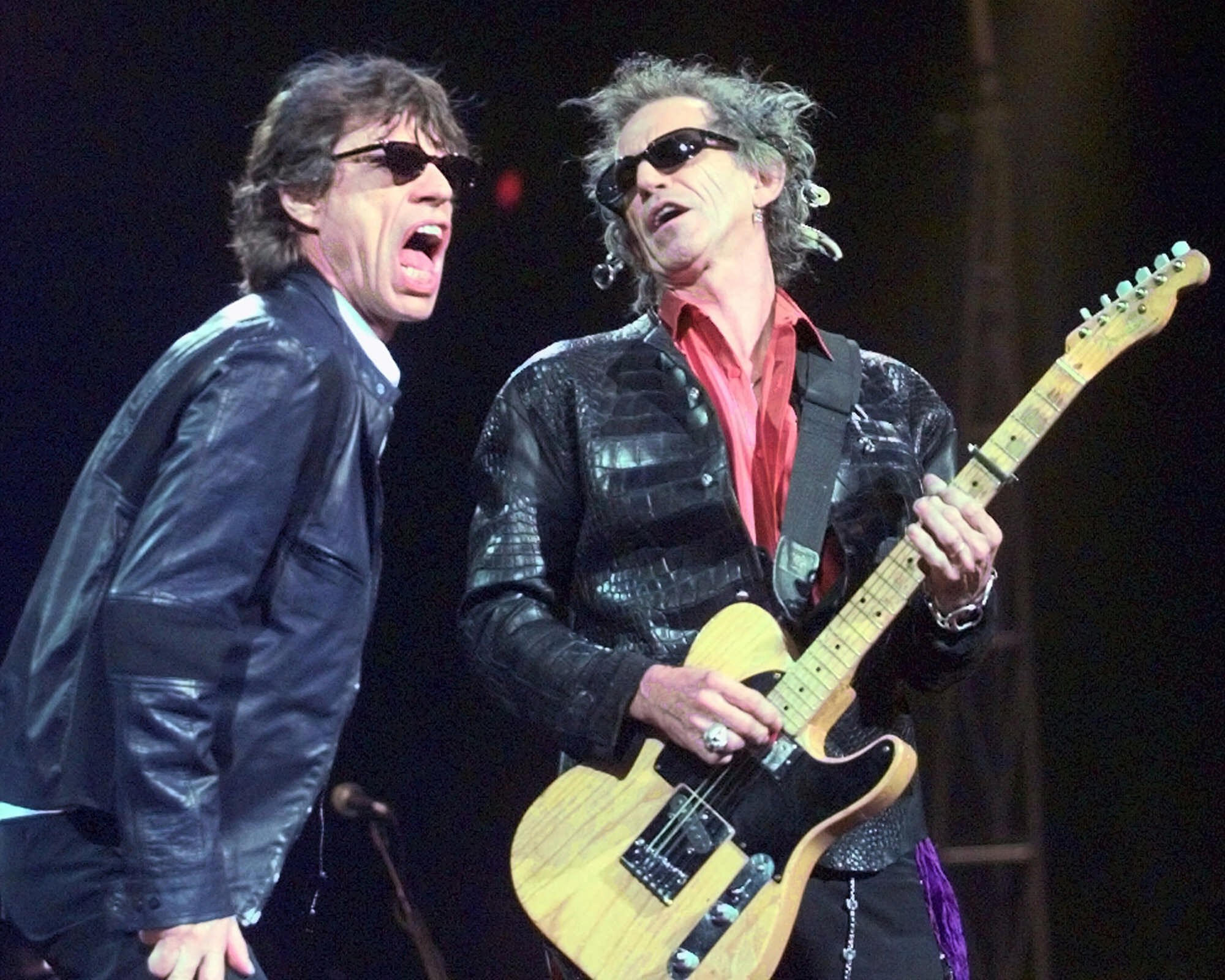 Rolling Stones lead singer Mick Jagger, left, and guitarist Keith Richards, in a 1999 file photo.