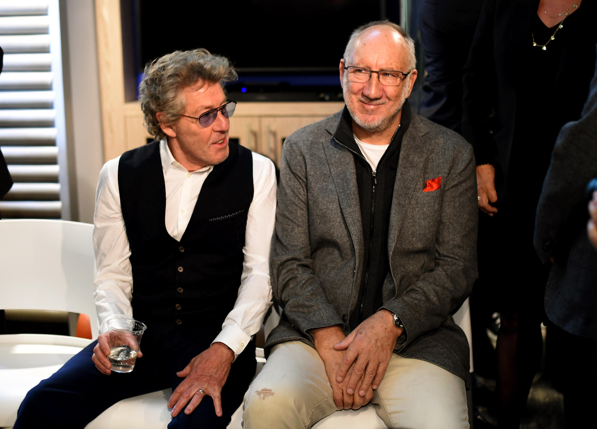 The Who's Roger Daltrey, left, and Pete Townshend.