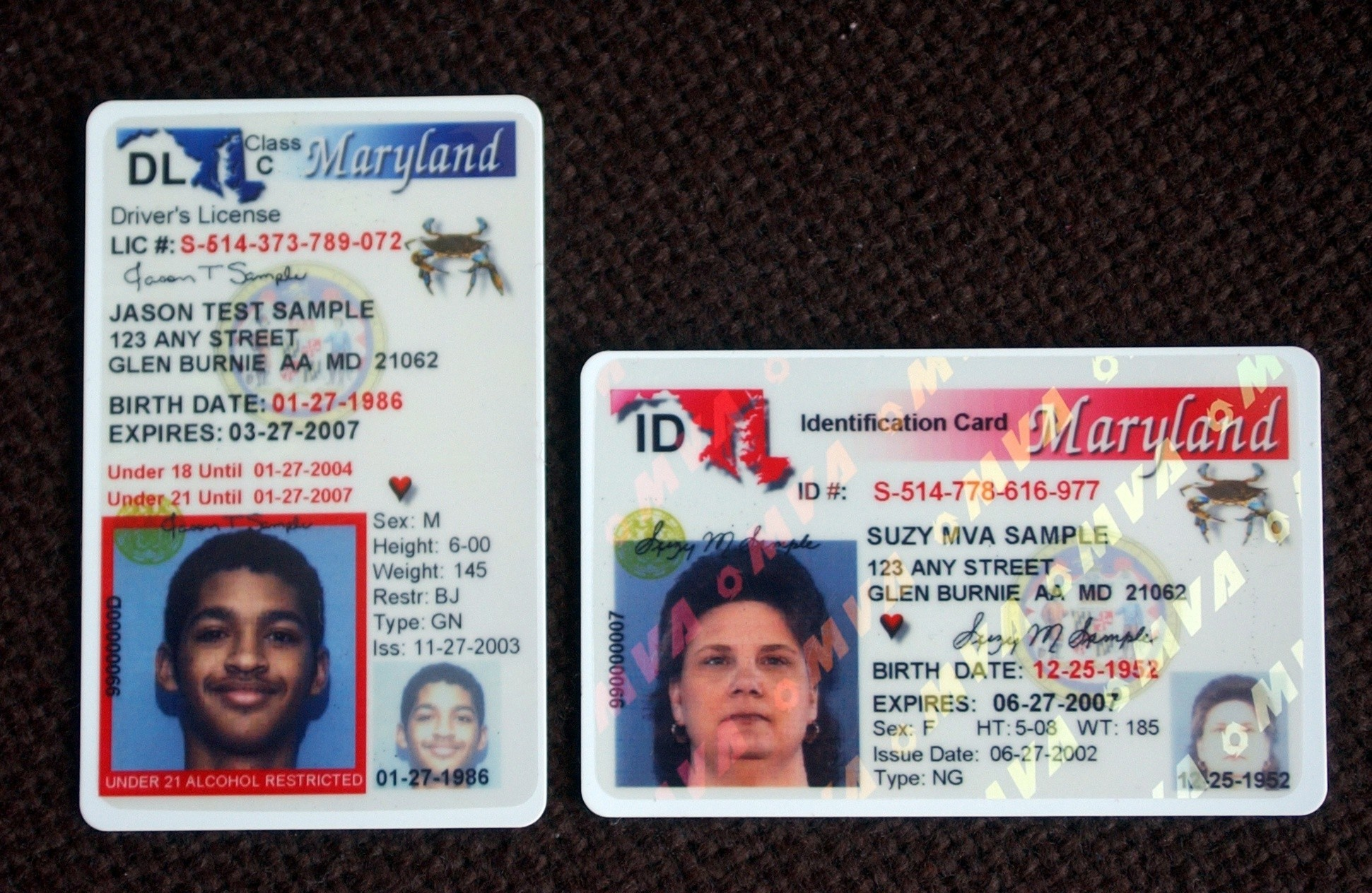 Driver's - License Gazette New Maryland Capital