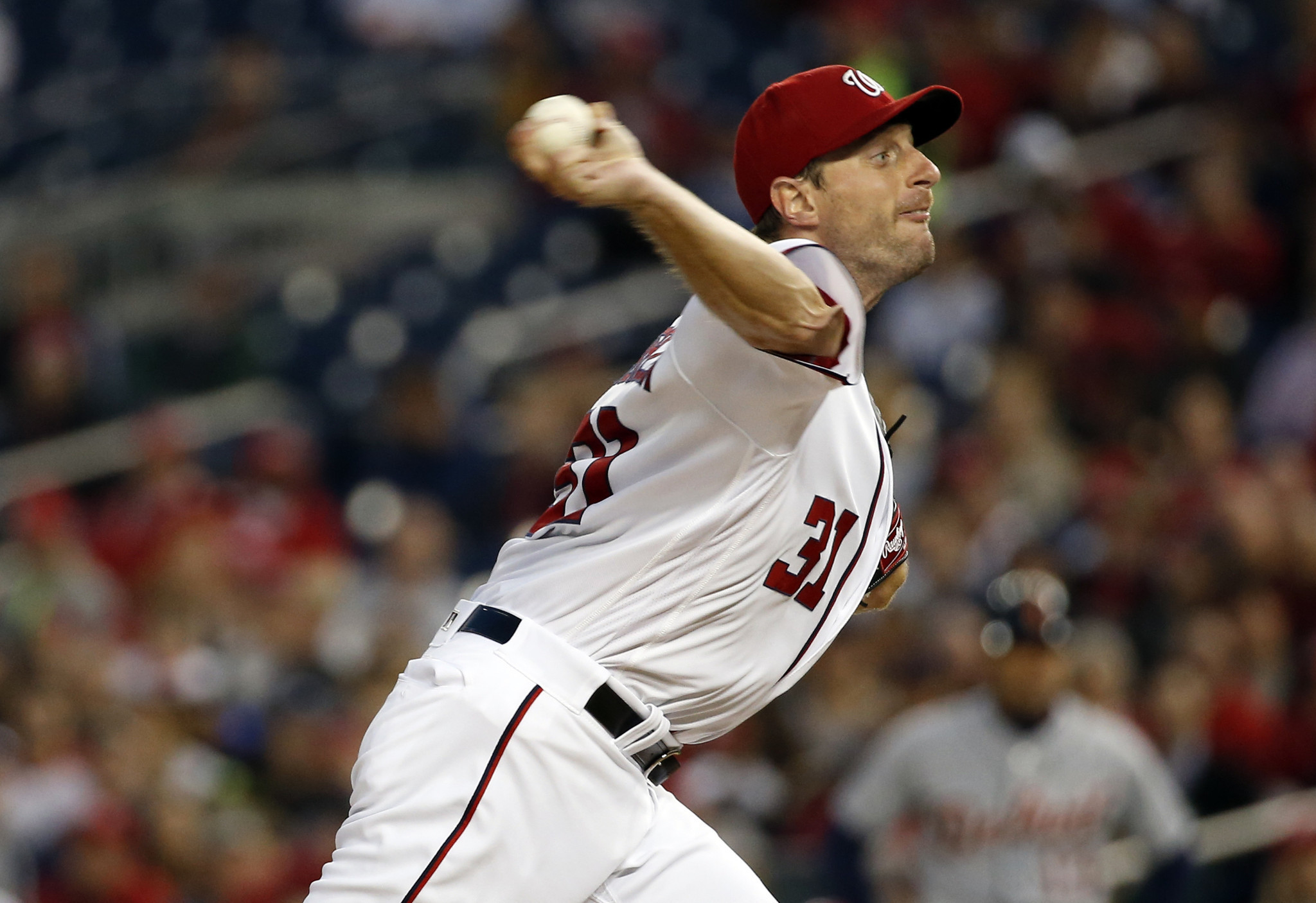Nationals' Max Scherzer matches Cubs' Kerry Wood with 20 ...