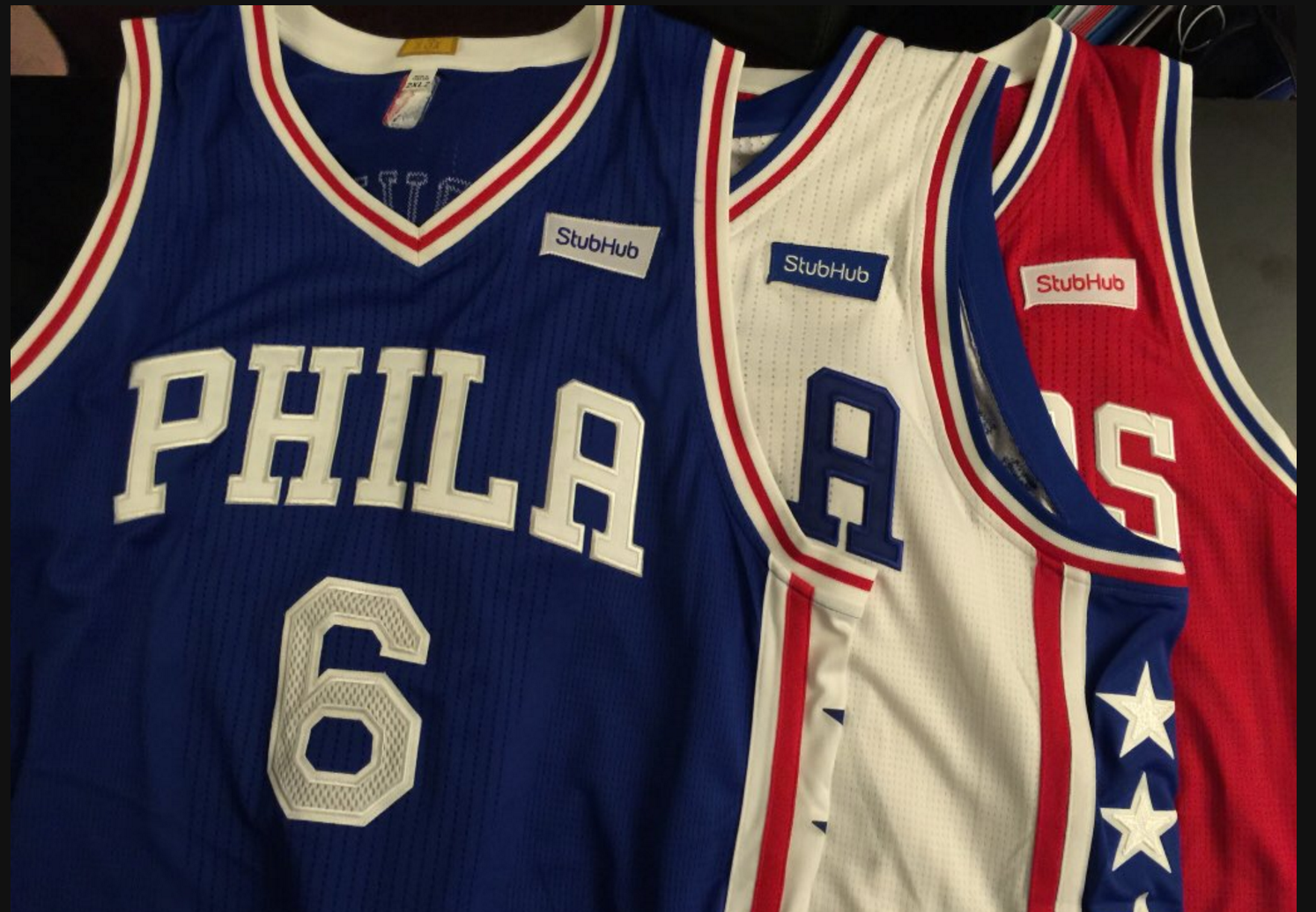 325db5fb20f7 76ers 1st NBA team to land jersey sponsorship with StubHub - Chicago ...