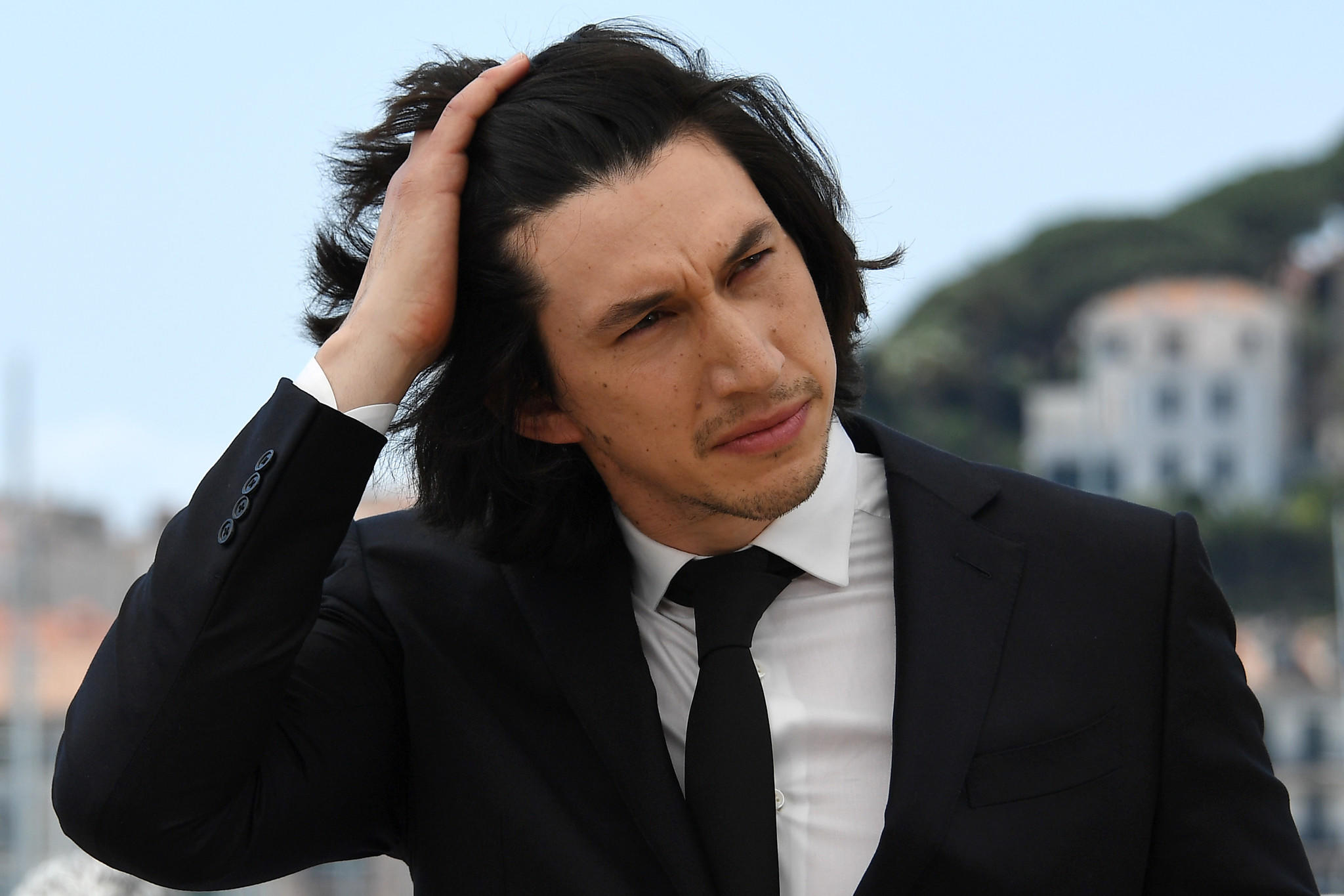 "Adam Driver poses during a photocall for the film ""Paterson"" at the Cannes Film Festival. (Anne-Christine Poujoulat / AFP/Getty Images)"