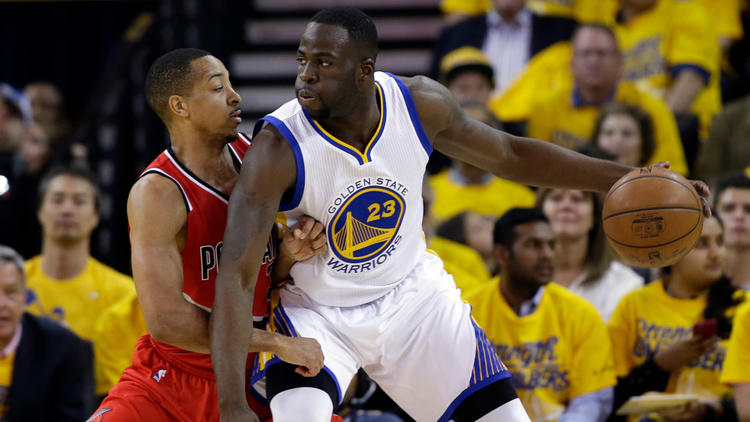 C.J. McCollum and Draymond Green