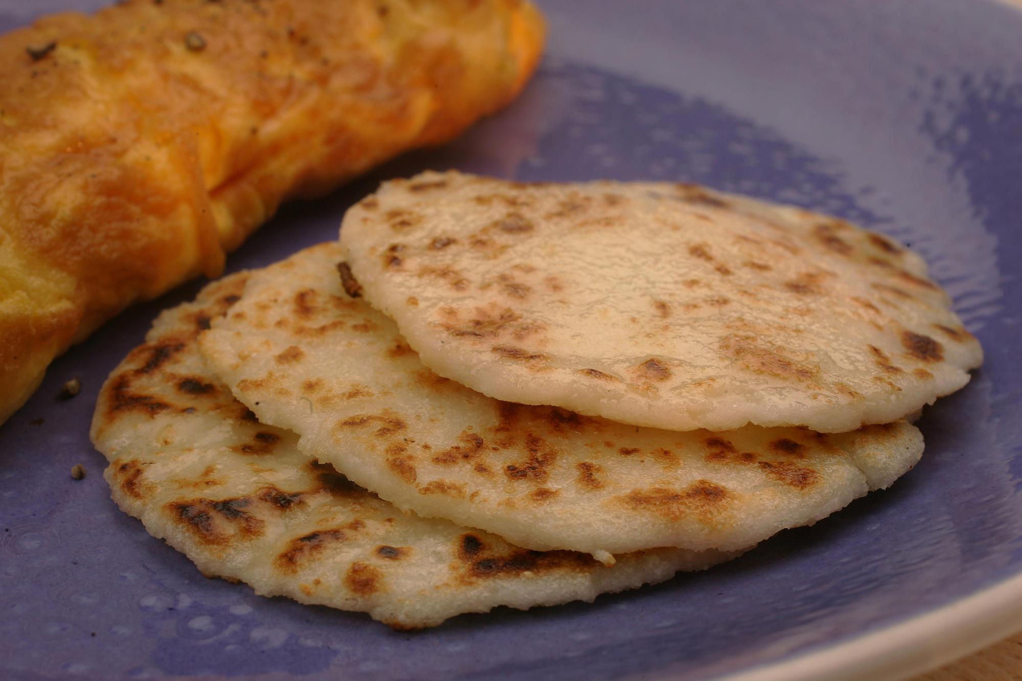Arepas made of corn flour