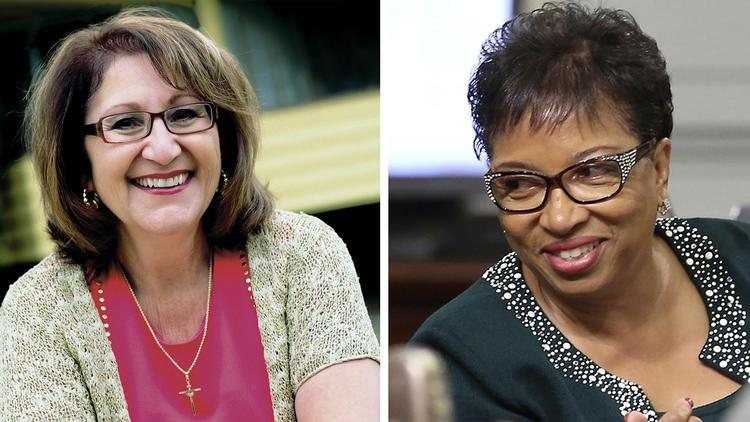 Assembly candidates Eloise Reyes, left, and Cheryl Brown.
